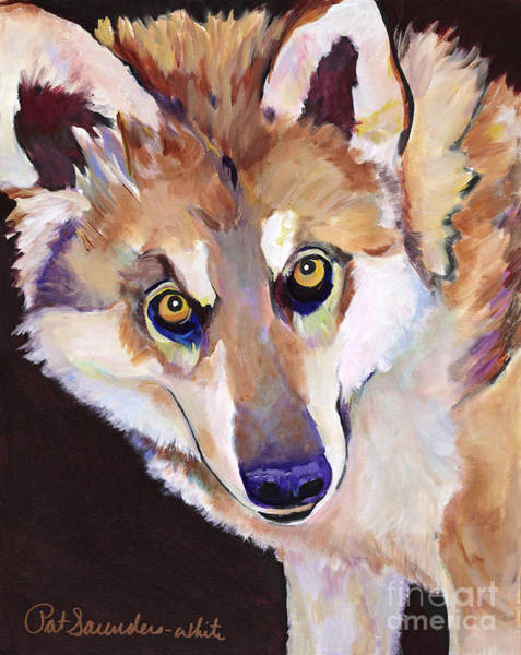 Painting - Night Eyes by Pat Saunders-White