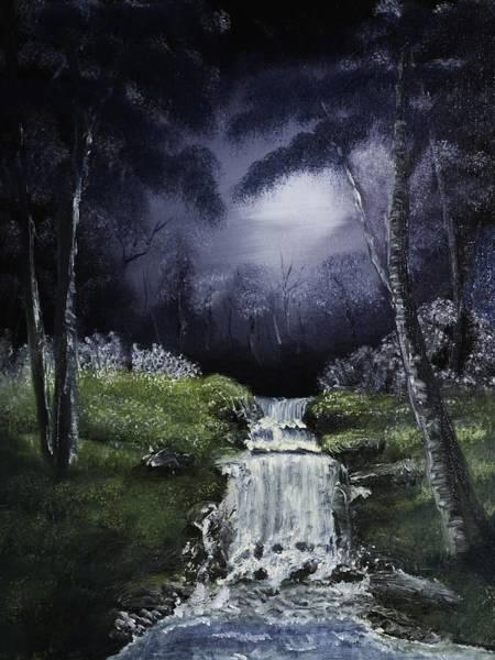 Painting - Night Falls by Barry Jones