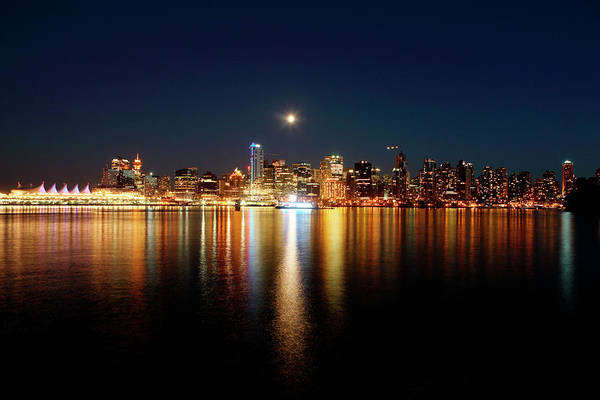 Vancouver City Photograph - Night Falls Over The Lights Of The City by Todd Korol