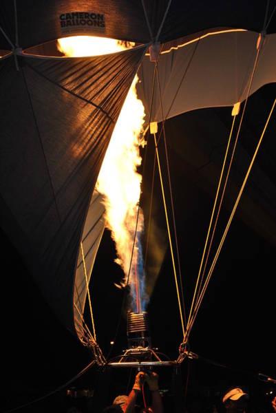 Balloon Festival Digital Art - Night Fire by Ken Waters