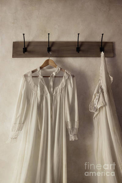Photograph - Night Gowns On Clothes Hooks by Sandra Cunningham