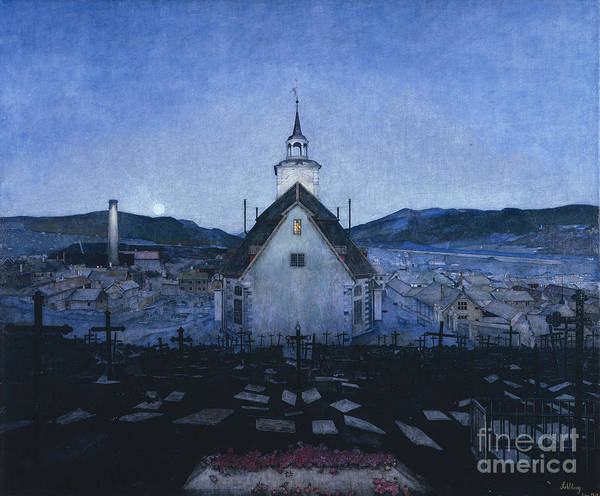 Wall Art - Painting - Night by Harald Sohlberg