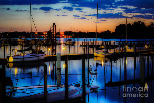 Photograph - Night Harbor by Michael Arend