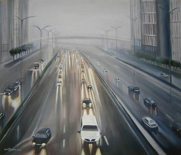 Nigeria Painting - Night In Lagos by Olaoluwa Smith