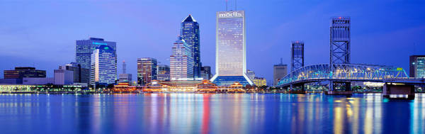 Faint Wall Art - Photograph - Night, Jacksonville, Florida, Usa by Panoramic Images
