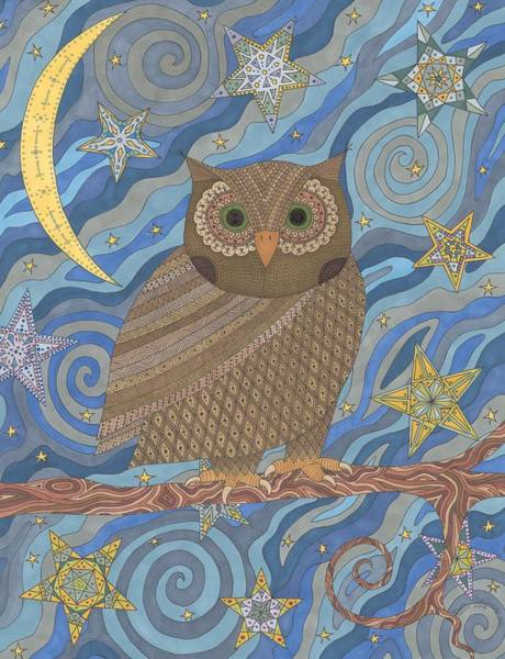 Night Time Drawing - Night King by Pamela Schiermeyer