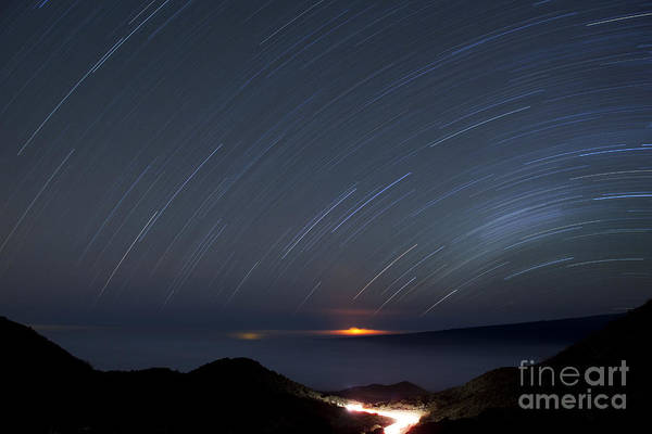 Photograph - Night Lava Flow From Mauna Kea by Charmian Vistaunet