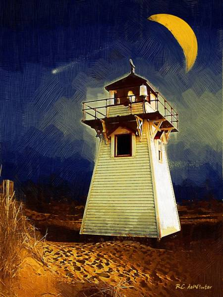 Painting - Night Light by RC DeWinter