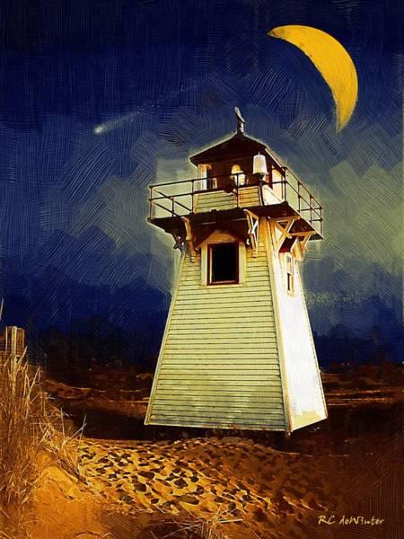 Prince Edward Island Painting - Night Light by RC DeWinter