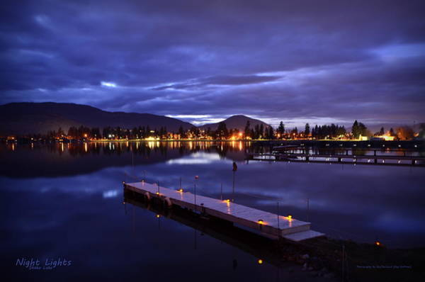 Bluehour Photograph - Night Lights by Guy Hoffman
