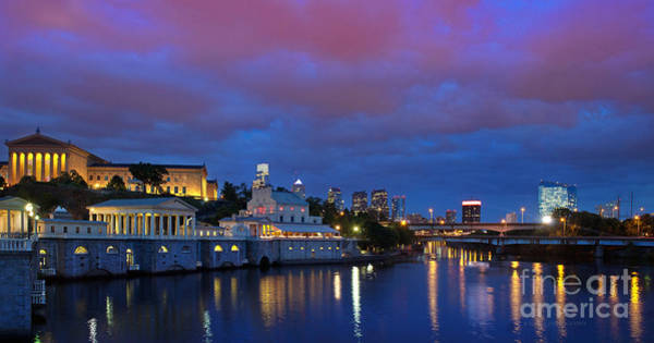 Photograph - Night Lights Philadelphia by Rima Biswas