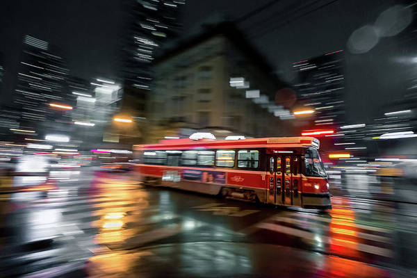 Tram Wall Art - Photograph - Night Moves by Jason Crockett