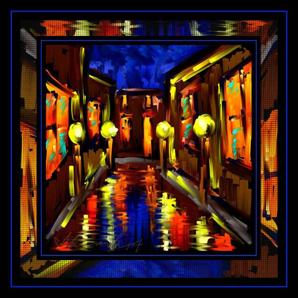 Wall Art - Painting - Night Of My Light by Steven Lebron Langston