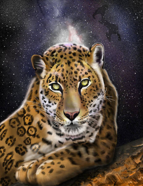 Digital Art - Fourth Of The Big Cat Series - Leopard by Thomas J Herring