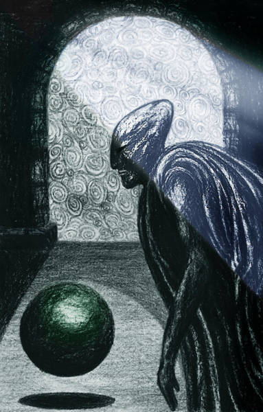 Drawing - Night Of The Sinister Wizard by Hartmut Jager