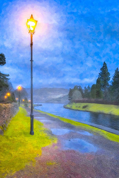 Photograph - Night On The Caledonian Canal by Mark Tisdale