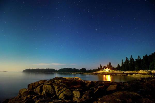 Stonington Photograph - Night On The Island by Edwin Remsberg