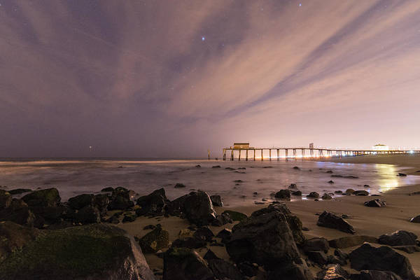 Wall Art - Photograph - Night On The Jetty by Kristopher Schoenleber