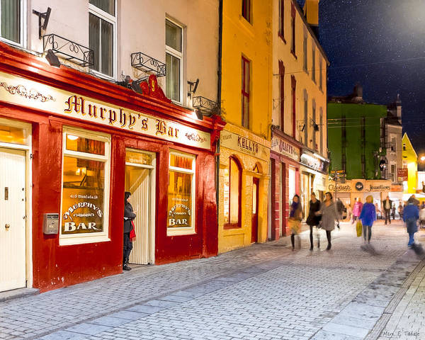 Photograph - Night Out At Murphy's Bar In Galway by Mark E Tisdale