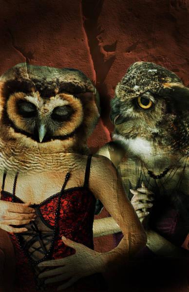 Wall Art - Digital Art - Night Owls  by Nathan Wright