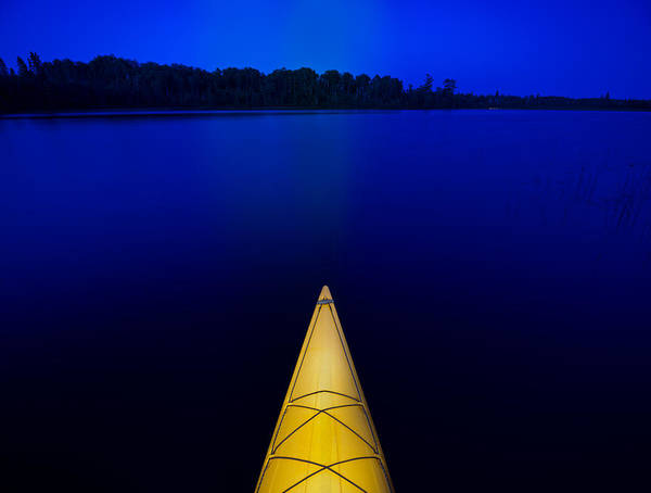 Kayaks Wall Art - Photograph - Night Paddle by Steve Gadomski