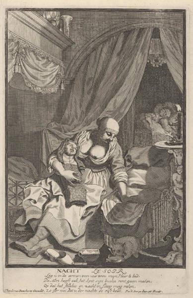 Wets Drawing - Night, Pieter Van Den Berge by Pieter Van Den Berge