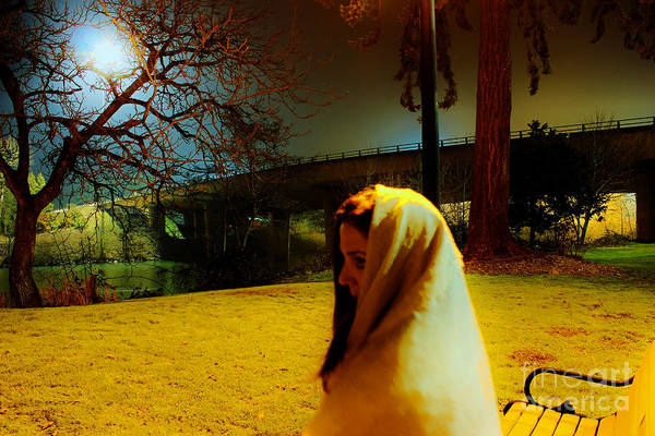 Photograph - night Portrait by Michael Cross
