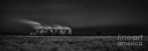 Power Station Wall Art - Photograph - Night Power by Nigel Jones
