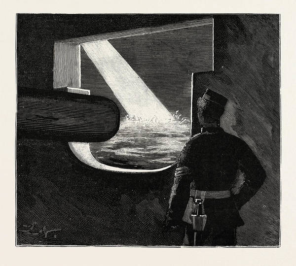 Target Drawing - Night Quarters On Board A Man Of War, The Target by English School