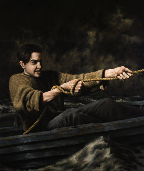 Fisherman Painting - Night Rescue by Mark Zelmer