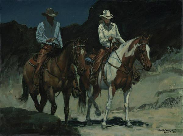 Wall Art - Painting - Night Ride by Don  Langeneckert