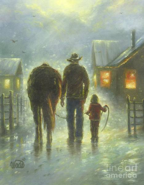 Granddaughter Painting - Night Ride by Vickie Wade