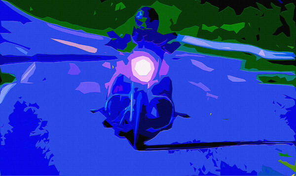 Crouching Digital Art - Night Rider by Brian Stevens