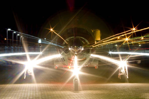Kimberley Airport Photograph - Night Run by Paul Job