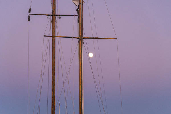 Photograph - Night Sail by Kristopher Schoenleber