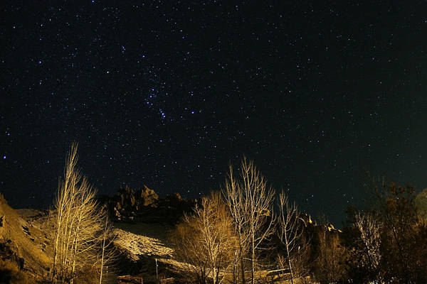 Sequence Photograph - Night Sky Over Zagros Mountains (2 Of 2) by Babak Tafreshi/science Photo Library