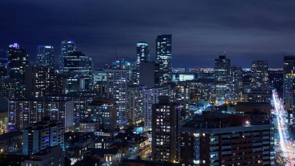 Photograph - Night Skyline Of Toronto by Roland Shainidze Photogaphy