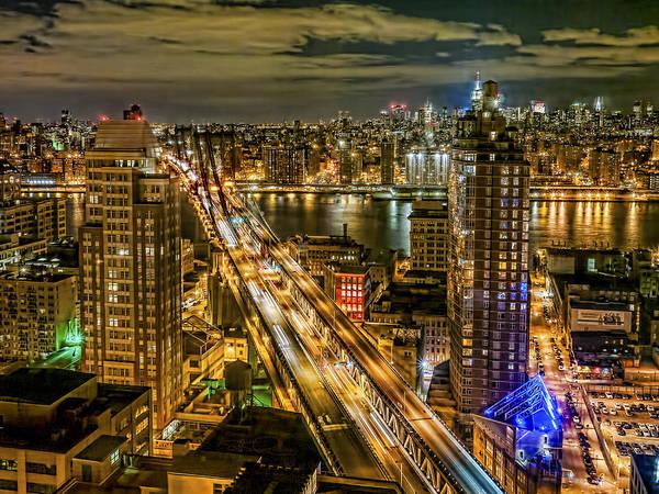 Photograph - Night Skyline by S Paul Sahm