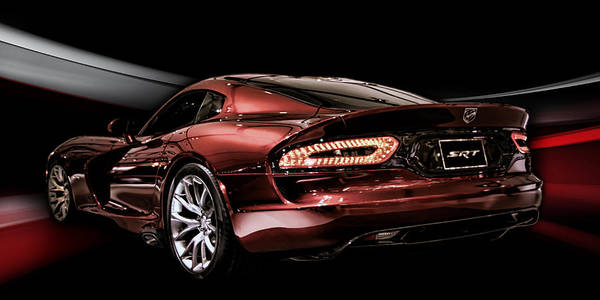 Supercars Digital Art - Night Snake by Peter Chilelli