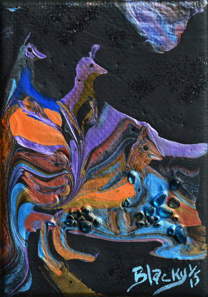 Wall Art - Painting - Night Stalkers by Donna Blackhall