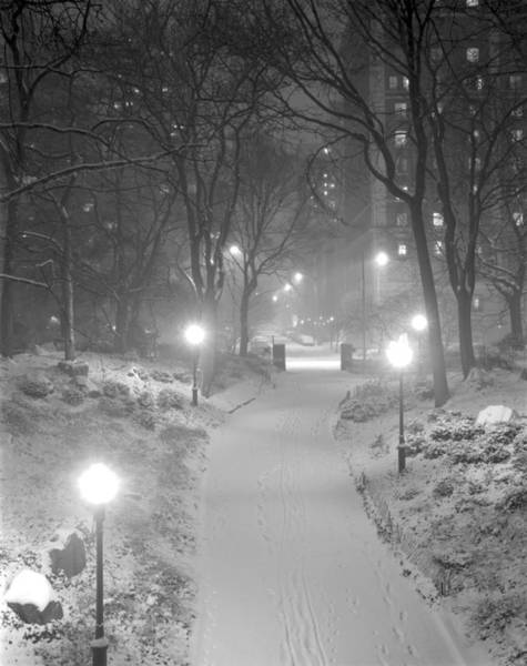 Night Storm New York Art Print