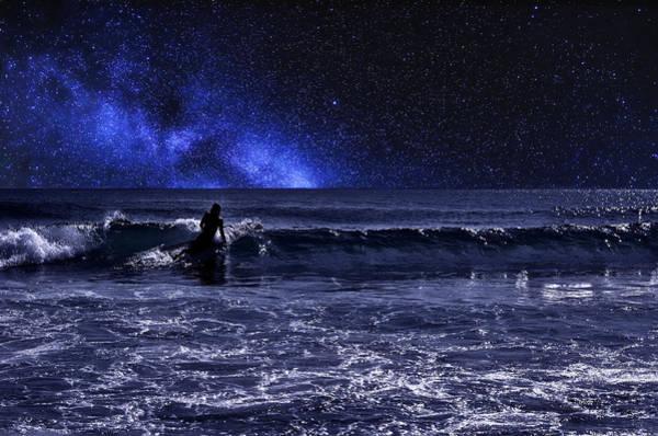 Juno Beach Photograph - Night Surfer by Laura Fasulo