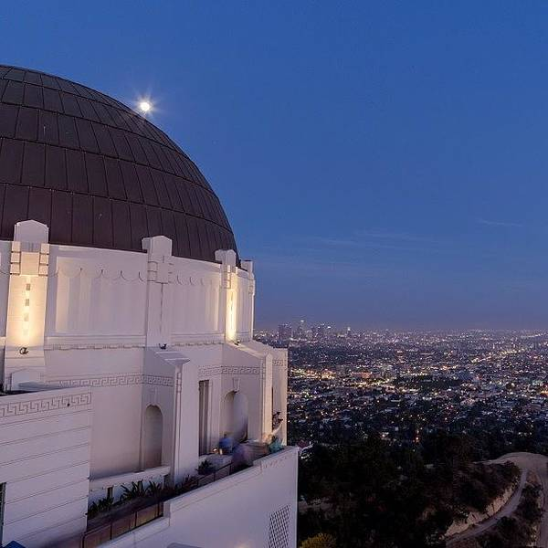 Fantasy Wall Art - Photograph - Night Time At The Griffith Observatory by Tony Castle