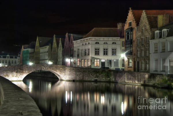Wall Art - Photograph - Night Time On The Canal by Juli Scalzi