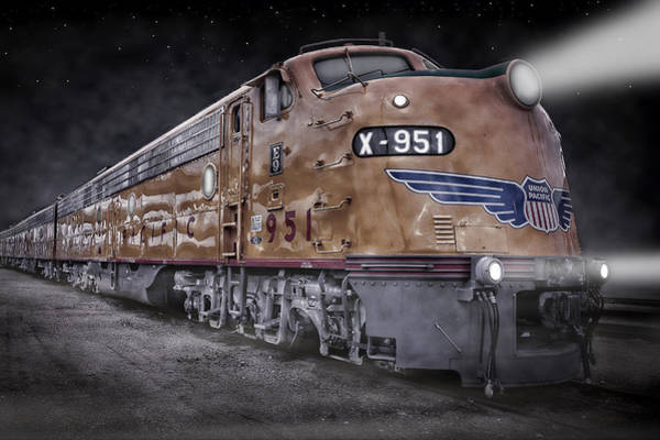 Wall Art - Photograph - Night Train Coming by Ken Smith
