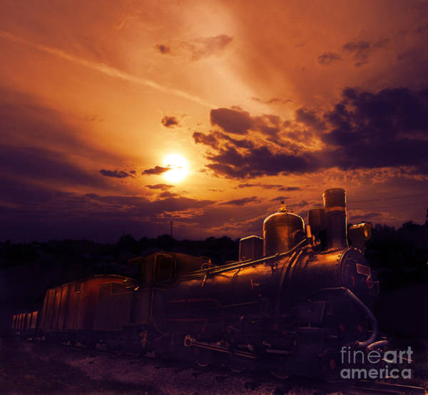 Steam Engine Photograph - Night Train by Jelena Jovanovic