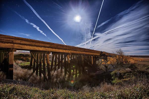 Union Pacific Railroad Wall Art - Photograph - Night Train Lane by Thomas Zimmerman