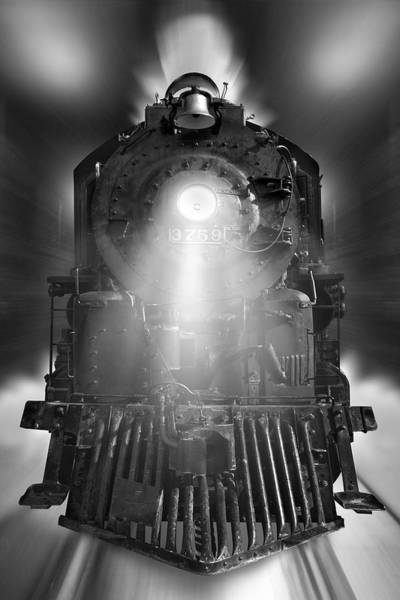 Steam Engine Photograph - Night Train On The Move by Mike McGlothlen