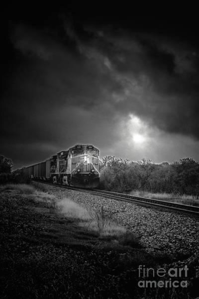 Rr Photograph - Night Train by Robert Frederick