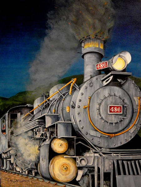 Wall Art - Painting - Night Train by Tanja Ware